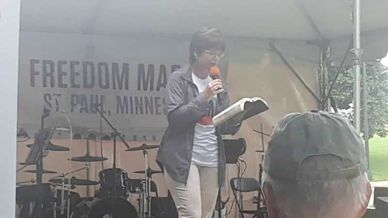 Dee Barnes at Minnesota Freedom March 2019